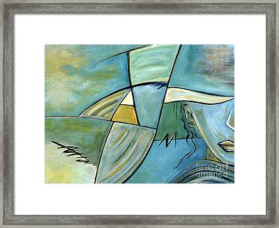 Beautiful Woman Contemporary Abstract Art Portrait Prints For Modern Living Rooms Framed Print by Marie Christine Belkadi