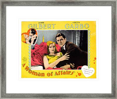 A Woman Of Affairs, Top Left Greta Framed Print by Everett