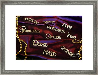 A Woman's Moods And Needs Framed Print by Kathleen K Parker