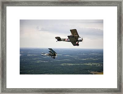 A Wwi Sopwith 1-12 Strutter Biplane Framed Print by Pete Ryan
