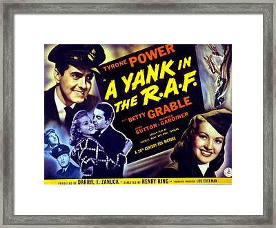 A Yank In The R.a.f., Tyrone Power Framed Print
