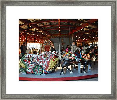 A Young Man And His Ride Framed Print