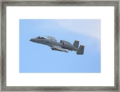 A10 Warthog Framed Print by Ken Brannen