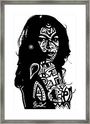 Aaliyah By Kamoni-khem Framed Print by Kamoni Khem