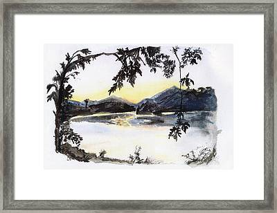 Aare Am Abend Framed Print by Jana Goode
