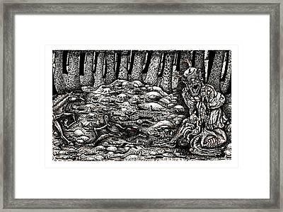 Aaron Battles The Ogre Framed Print