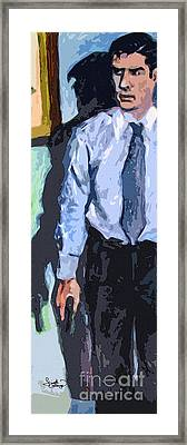 Aaron Hotchner Persuing The Reaper Framed Print by Ginette Callaway
