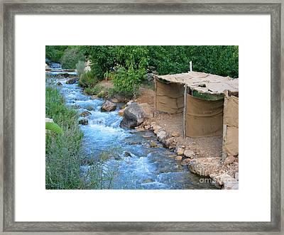 Aawaj River Framed Print by Issam Hajjar