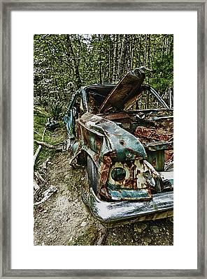 Abandon Car Framed Print by Greg Horler