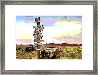 Abandoned Arizona Framed Print by Charles Shoup