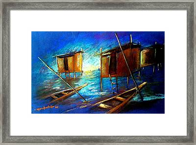 Framed Print featuring the painting Abandoned At Aleibri by Oyoroko Ken ochuko