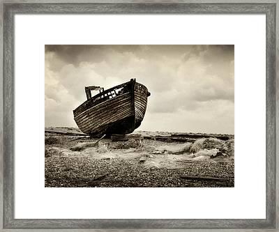 Abandoned At Dungeness Framed Print by David Turner