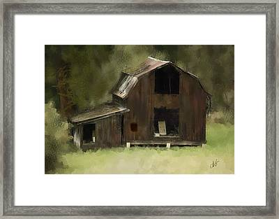 Abandoned Barn Framed Print by Dale Stillman