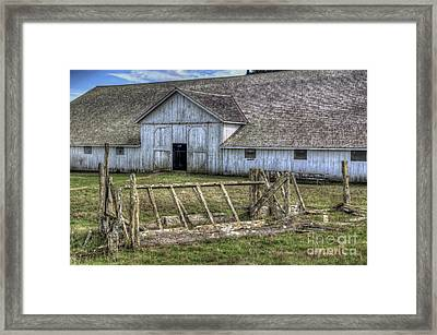 Abandoned Barn Framed Print by Eddie Yerkish