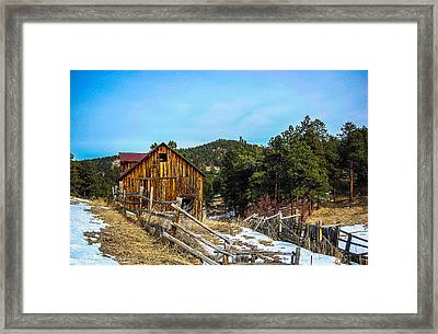 Abandoned Barn Framed Print by Shannon Harrington