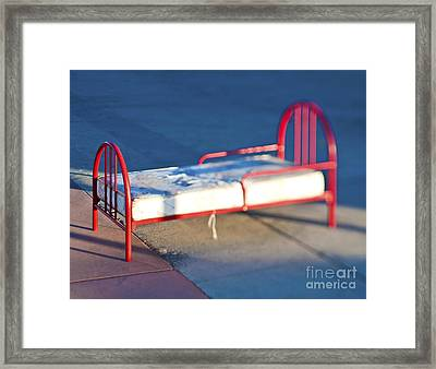 Abandoned Bed Framed Print by Eddy Joaquim
