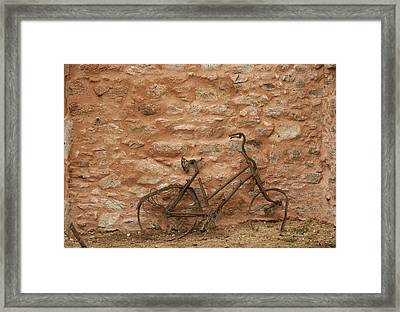 Abandoned Bike Framed Print by Georgia Fowler