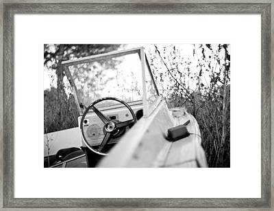 Abandoned Boat Framed Print by Cale Best