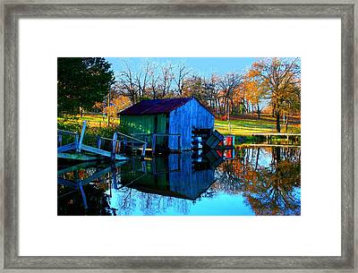 Abandoned Boat House Framed Print by Carrie OBrien Sibley