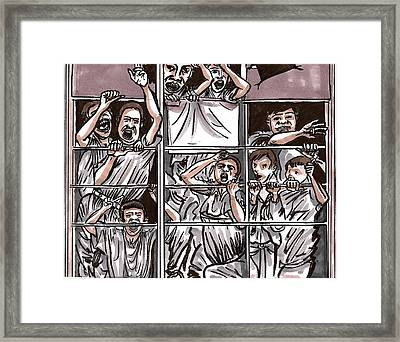 Abandoned Building Playground In The Bronx  Nyc Framed Print by Al Goldfarb