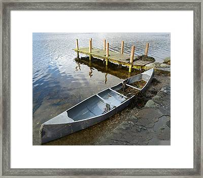 Framed Print featuring the photograph Abandoned Canoe by Lynn Bolt