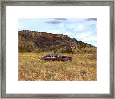 Framed Print featuring the photograph Abandoned Car by Steve McKinzie