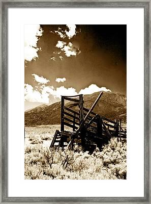 Abandoned Cattle Shoot Framed Print