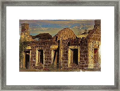Framed Print featuring the digital art Abandoned Farmhouse by Blair Stuart