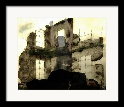Woman As An Abandoned House Framed Prints