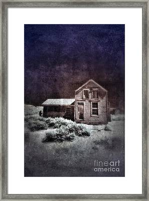 Abandoned House In Infrared Framed Print by Jill Battaglia