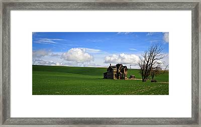 Abandoned House On Green Pasture Framed Print by Steve McKinzie