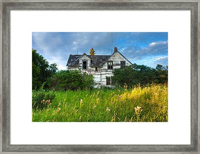 Abandoned House On The Prairies Framed Print by Matt Dobson