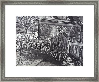 Abandoned House With Gate Framed Print