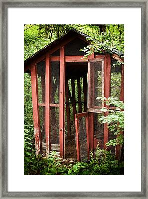 Abandoned In The Woods Framed Print by Karol Livote
