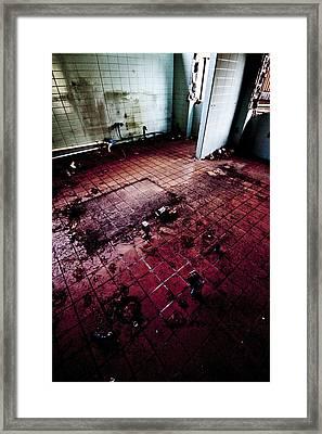 Abandoned Locker Room Framed Print by Christopher Kulfan