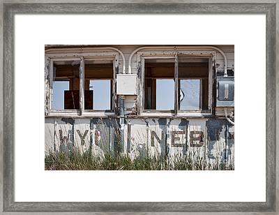 Abandoned On State Line Framed Print