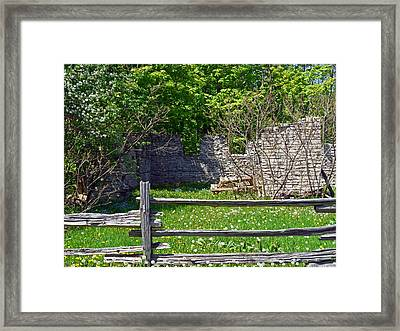 Abandoned Picnic Table Framed Print