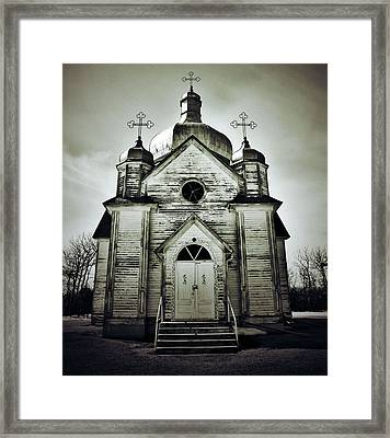 Abandoned Prayers Framed Print by Empty Wall