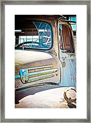 Abandoned Red Truck Framed Print
