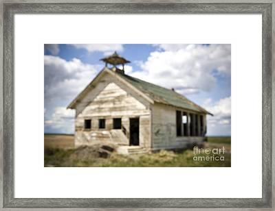 Abandoned Rural School House Framed Print by Paul Edmondson