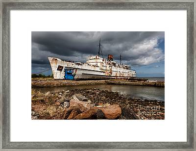 Abandoned Ship Framed Print by Adrian Evans