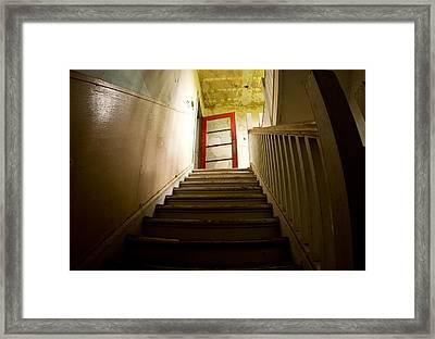 Abandoned Staircase Framed Print