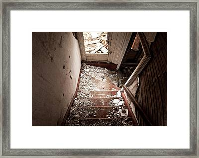 Abandoned Stairs 2 Framed Print