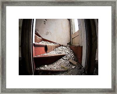 Abandoned Stairs Framed Print by Cale Best