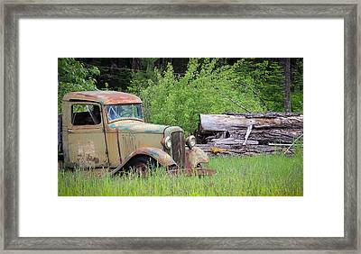 Framed Print featuring the photograph Abandoned by Steve McKinzie
