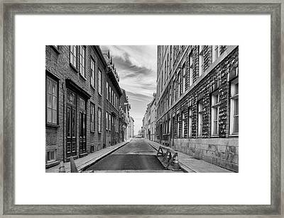 Framed Print featuring the photograph Abandoned Street by Eunice Gibb