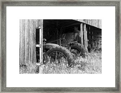 Abandoned Tractor Framed Print