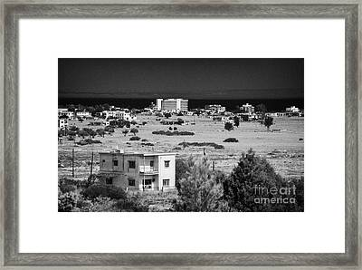 abandoned varosha ghost town in the UN buffer zone in the green line cyprus famagusta Framed Print by Joe Fox