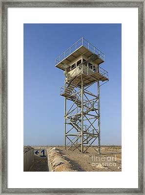 Abandoned Watchtower In The Desert Framed Print by Noam Armonn