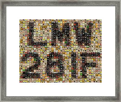 Abbey Road License Plate Mosaic Framed Print